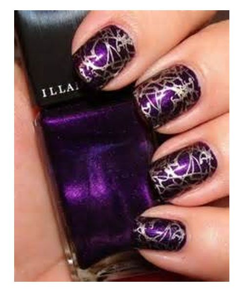 New Design Of Nail Polish In Purple Colour Nail Polish Pinterest