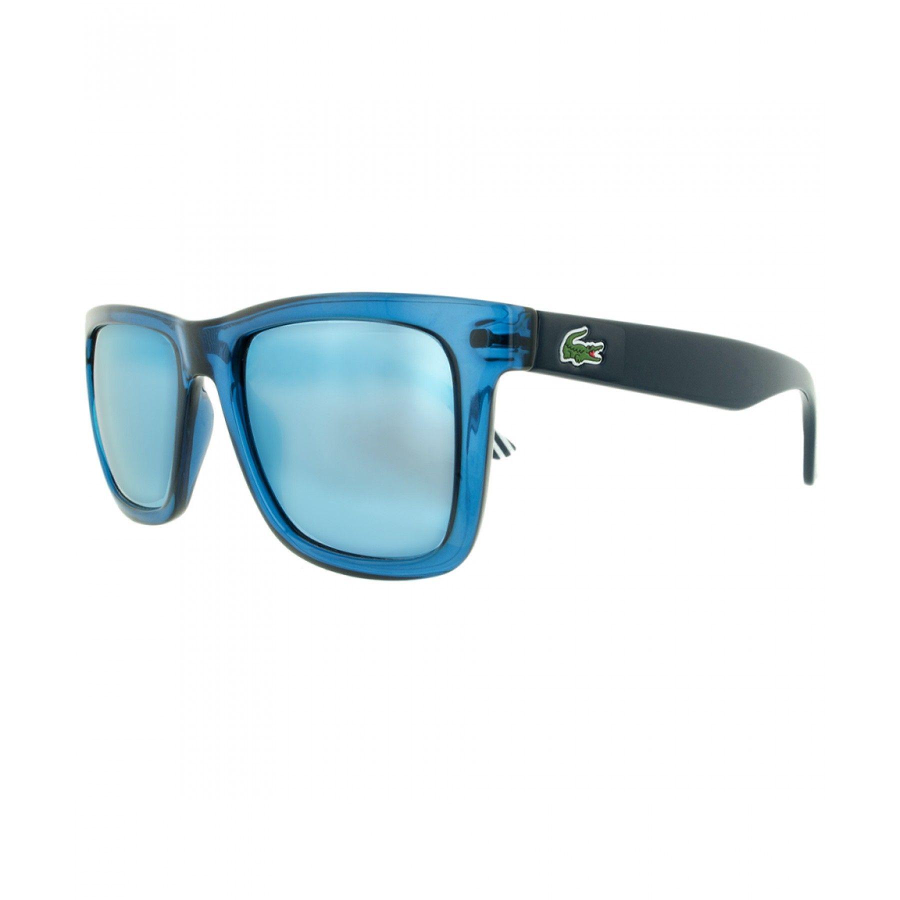 7b863cc51a Lente Solar Lacoste para hombre elaborado en material sintético color azul;  la marca se expresa