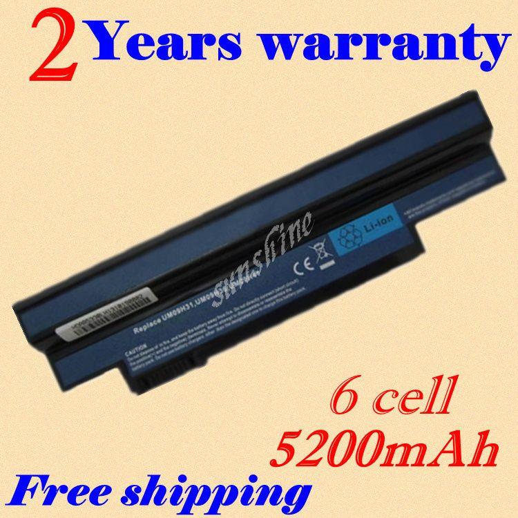 Jigu 6cells Laptop Battery For Acer Um09c31 Um09h56 Um09h70 Um09h73 Um09h75 Um09g31 Um09g41 Um09g51 Um09h31 Um09h Laptop Accessories Laptop Battery New Laptops