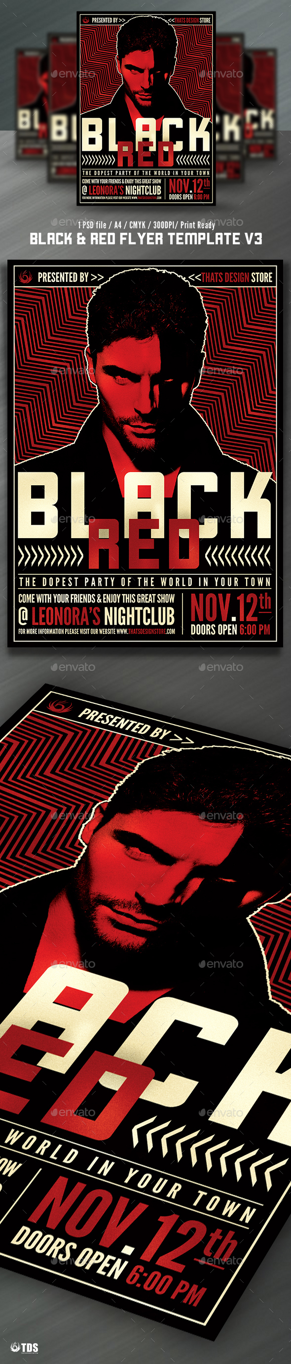 Black And Red Flyer Template V  Music Flyer    Flyer