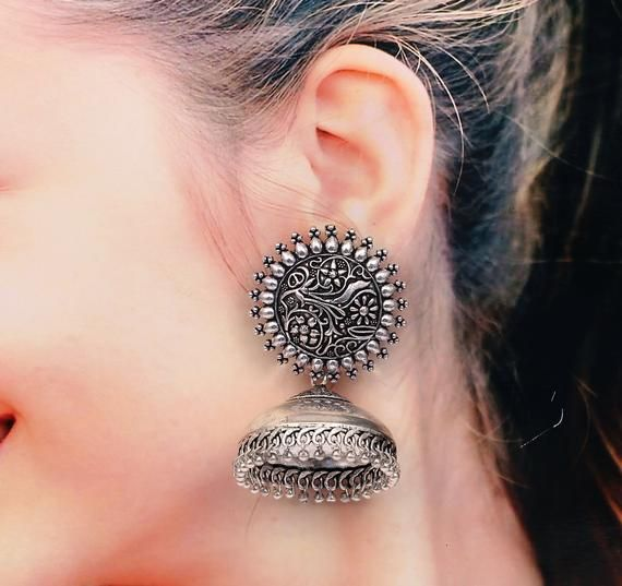 earrings Oxidized Antique Stud earrings stylish earrings.