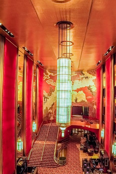 Grand Foyer At The Radio City Music Hall by SAURAVphoto in