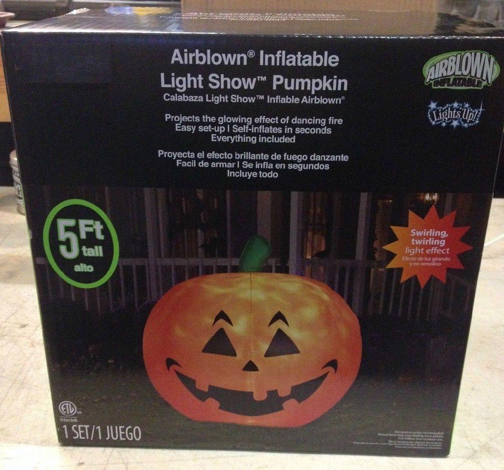 Gemmy Halloween Fire & Ice Light Show Pumpkin Airblown Inflatable Yard Prop