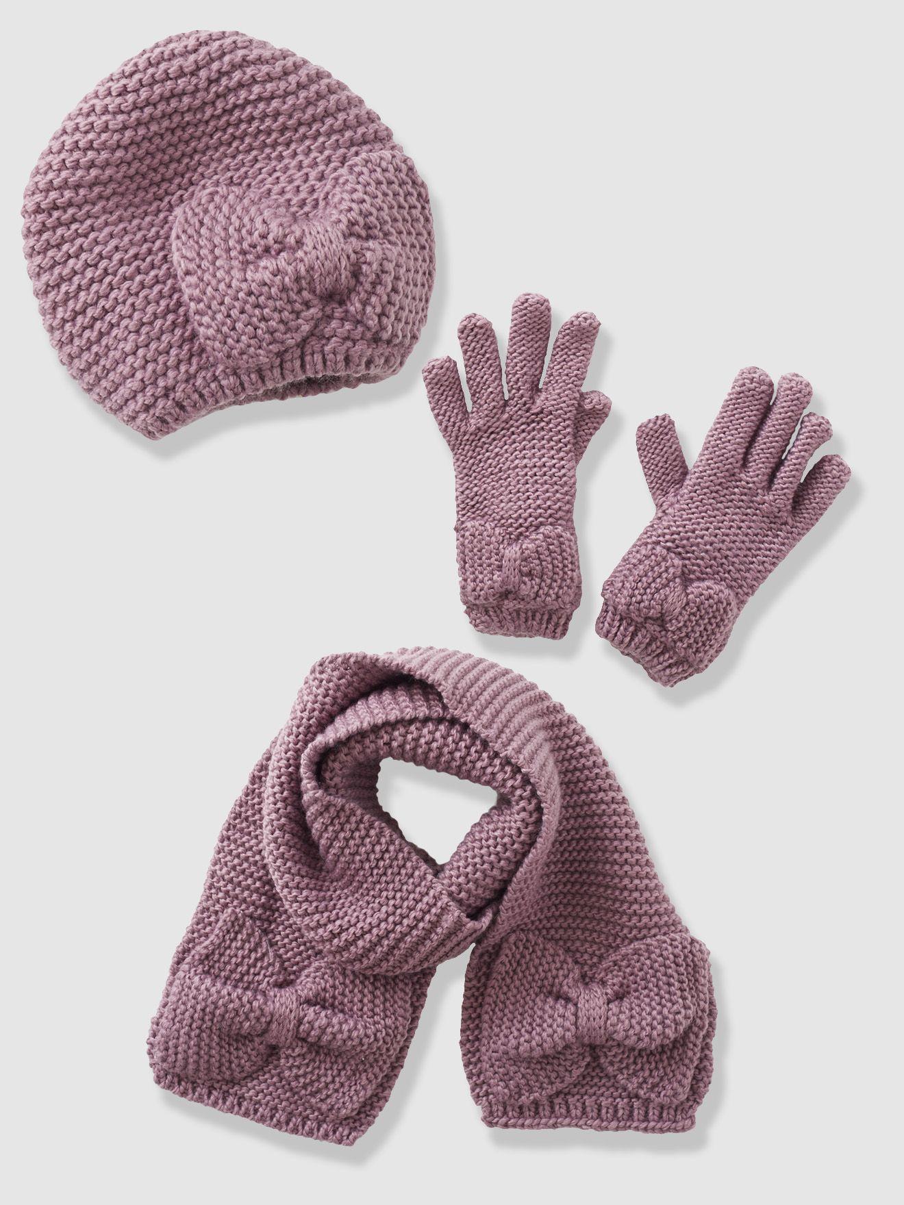 Collection hiver enfant vertbaudet , echarpe bonnet moufles fille