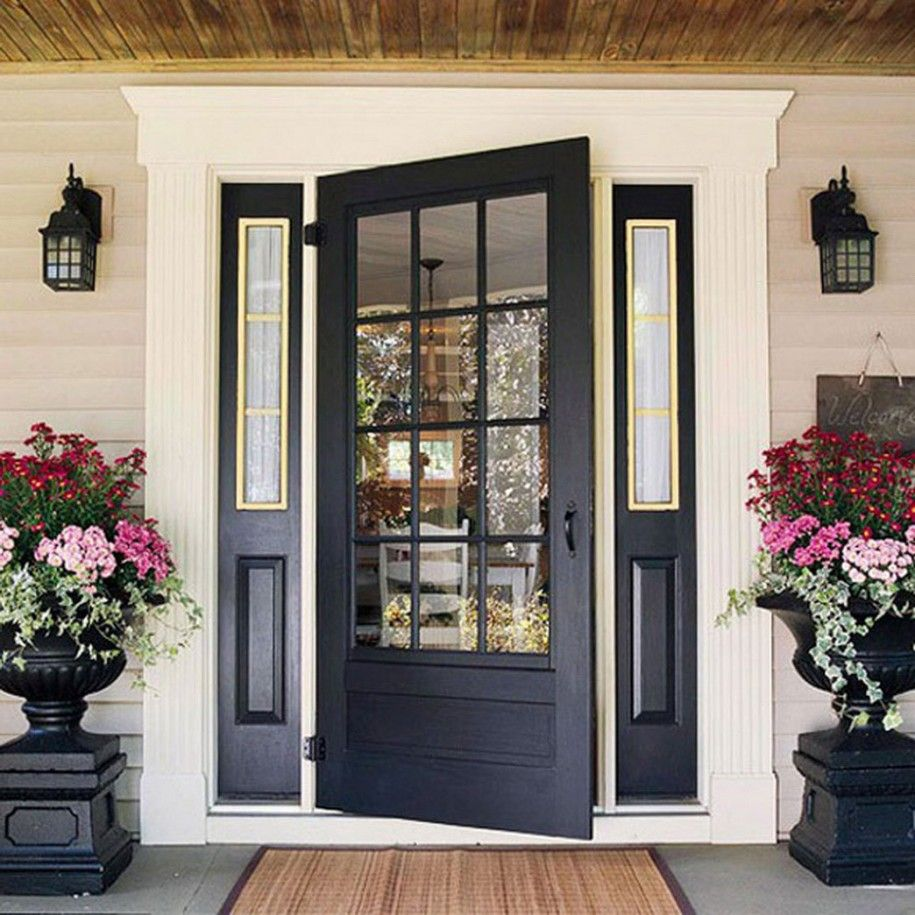 Delicieux Beautiful Doors Design Ideas With Contrasting Colors : Black Wooden Front  Door Classic Doors Design Ideas