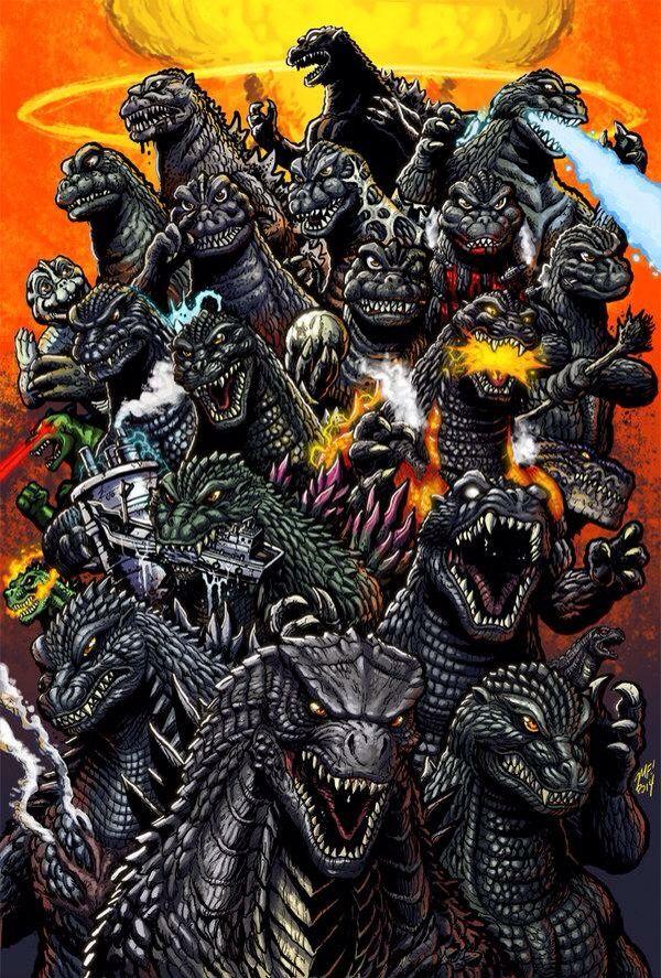 """12/""""x18/""""Godzilla matt frank HD Canvas prints Home decor Painting Wall art Posters"""