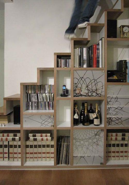 trap-boekenkast-3 | Architectuur | Pinterest - Trap, Ingebouwde ...