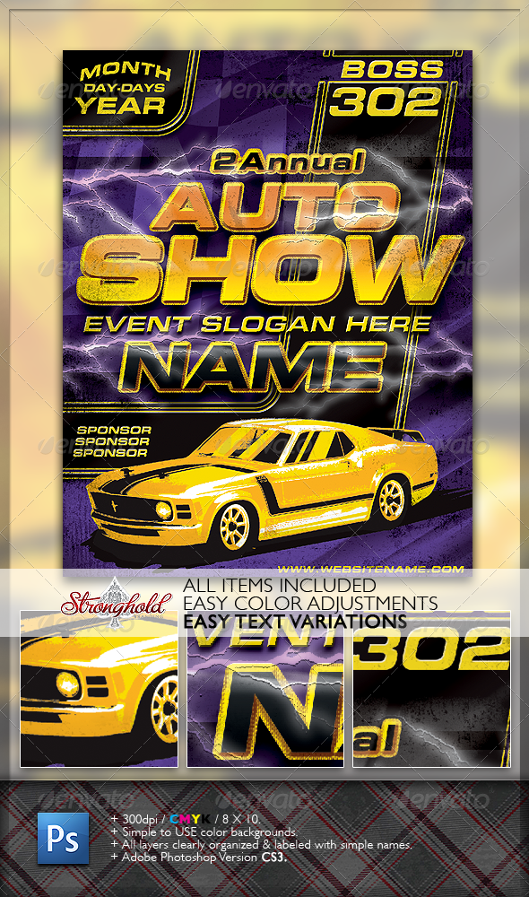 Vintage Boss  Flyer Template  Cars Flyer Template And Template