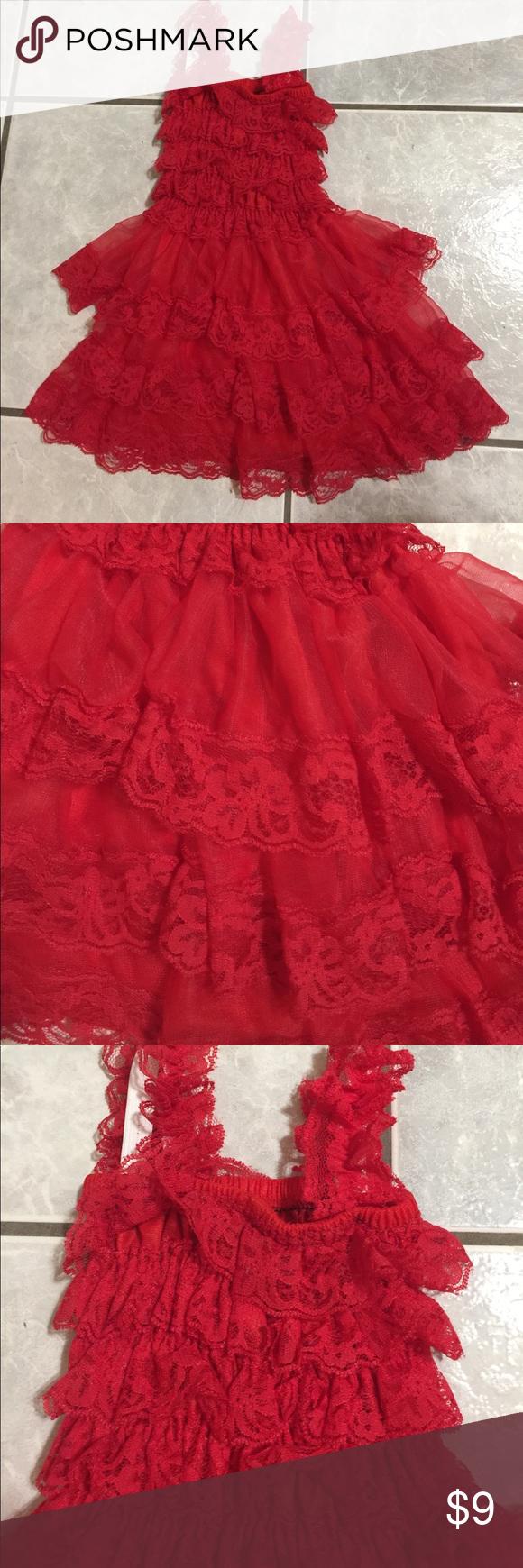 Valentines little girls dress toddler sizes m u l ruffles lace dress