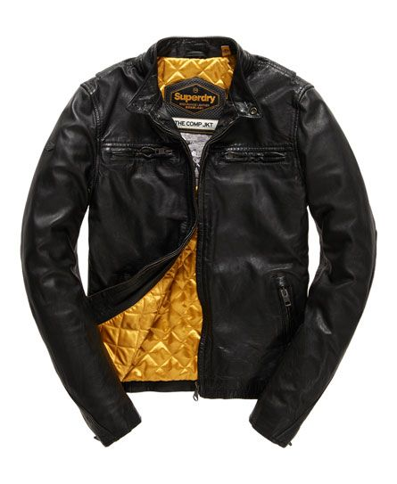 c0fc1619b Superdry Endurance Comp Leather Jacket Black | Jackets | Leather ...