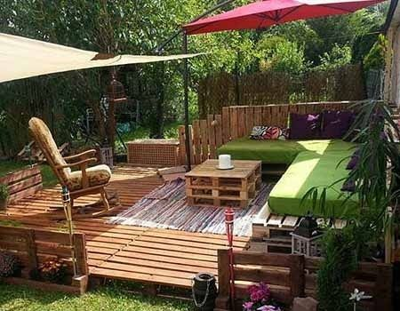 yoga holz deck outdoor pallet furniture ideas upcycled sofa diy vertical pallet garden