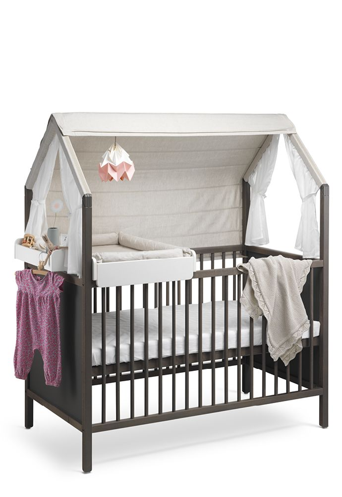 A crib that expands (with extension kit) with your baby to meet ...