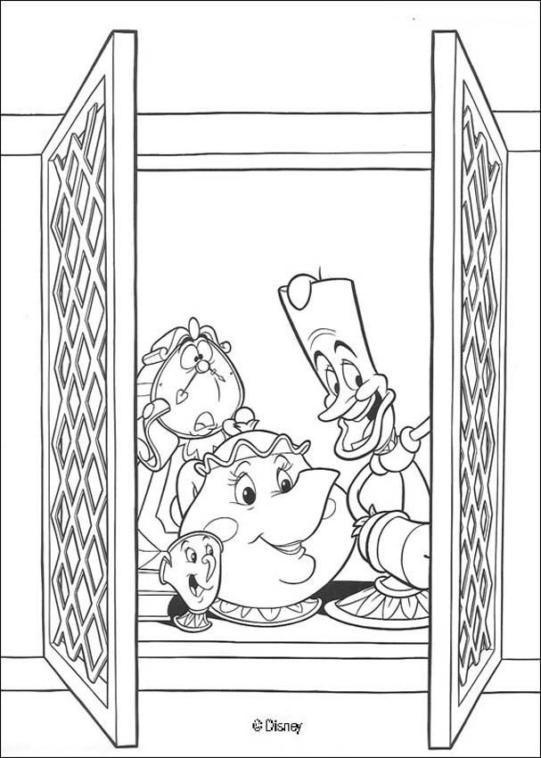 Coloring page about the Beauty and the Beast Disney movie. Nice ...