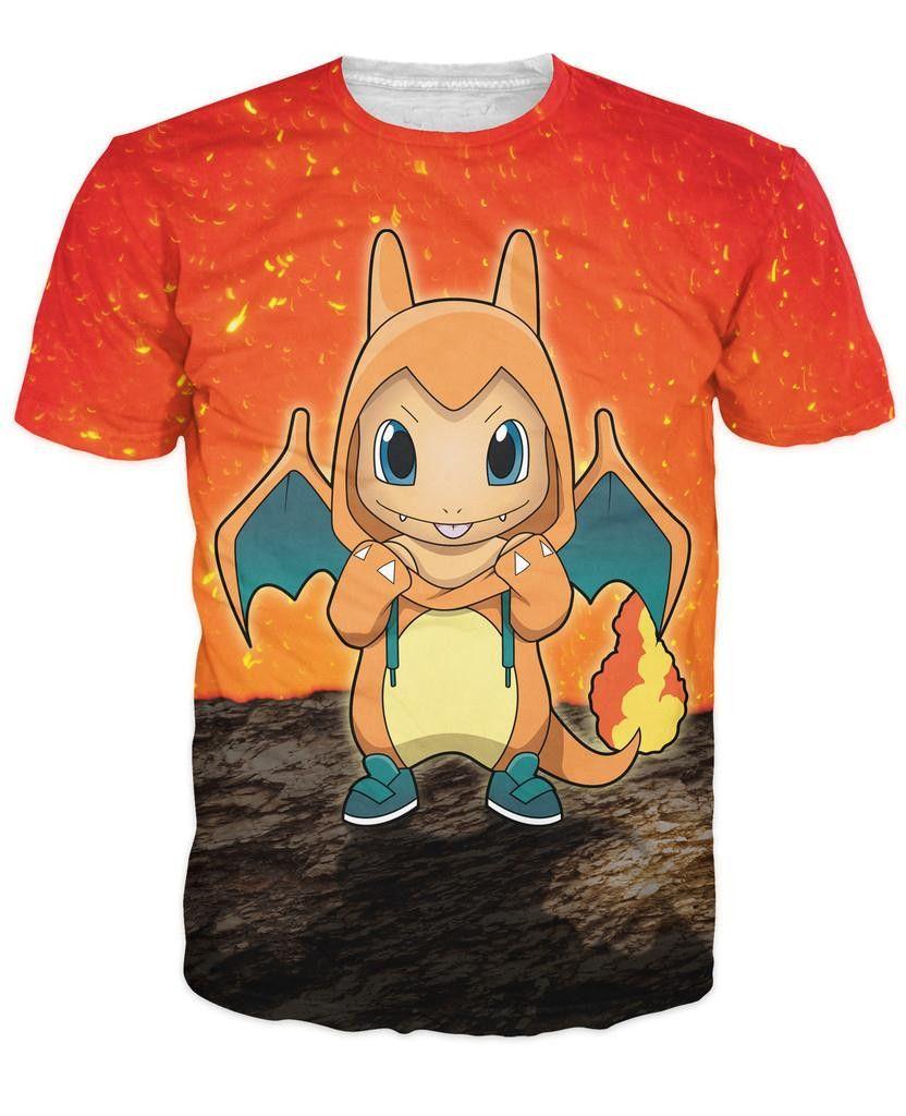 3a31d8aec4e1c 3d Charmander Pokemon Tees