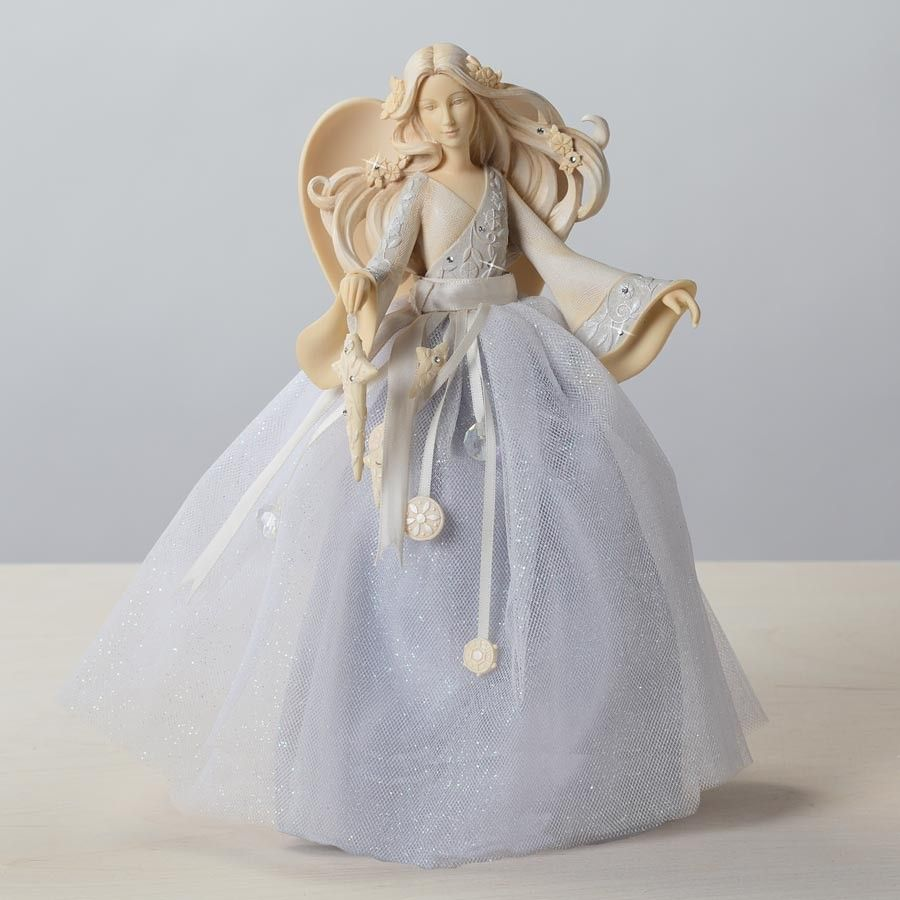 ANGEL TREE TOPPER By Enesco, A Foundations Angel Collectible Figurine