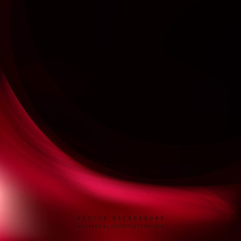 Abstract Red Black Wave Background