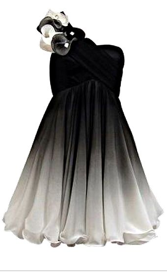 Silver And Black Ombre Dress Fashion Dresses Cute
