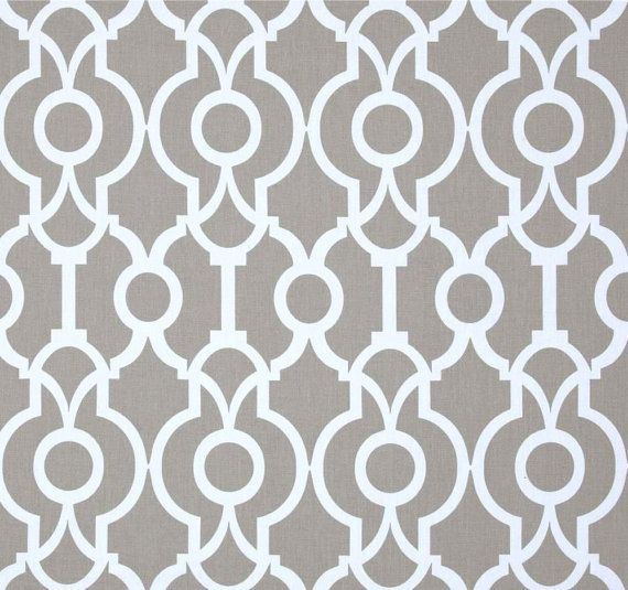 Minimalist Stripe Fabric Neutral By The Yard Designer Cotton