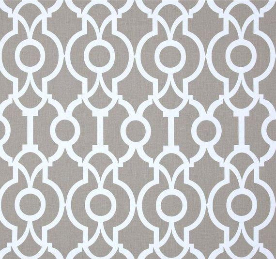 Contemporary Grey Fabric by the Yard Designer Geometric Drapery ...