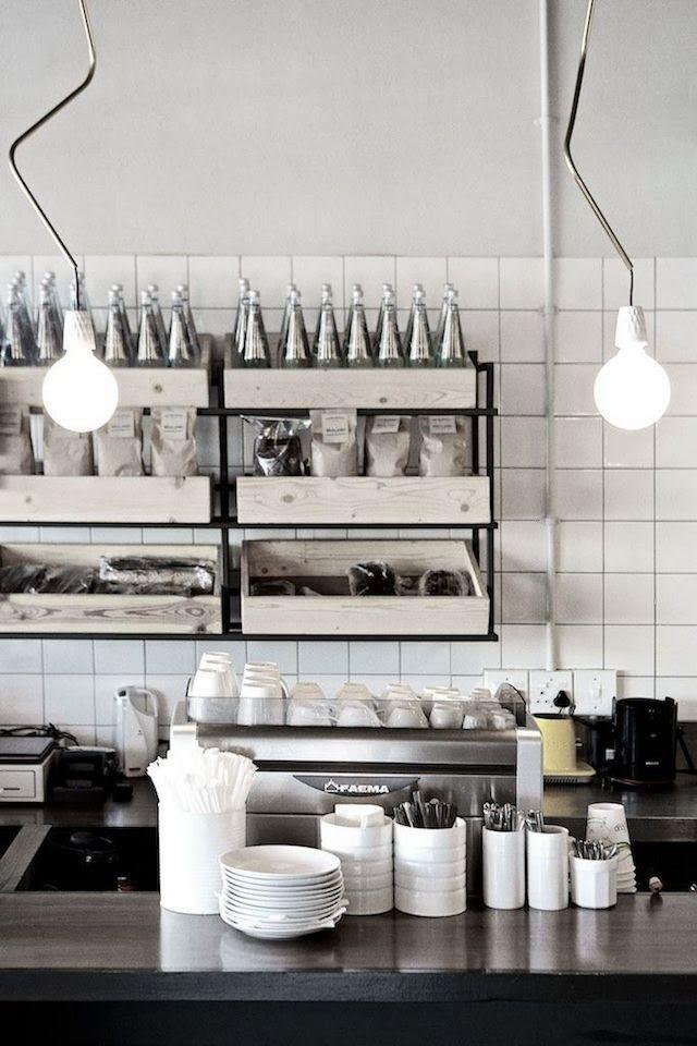 Gastronomie Et Design Ginger Fig Monochromie Et Style Industriel Interieurs Cafe Idees Pour La Maison Mobilier De Salon