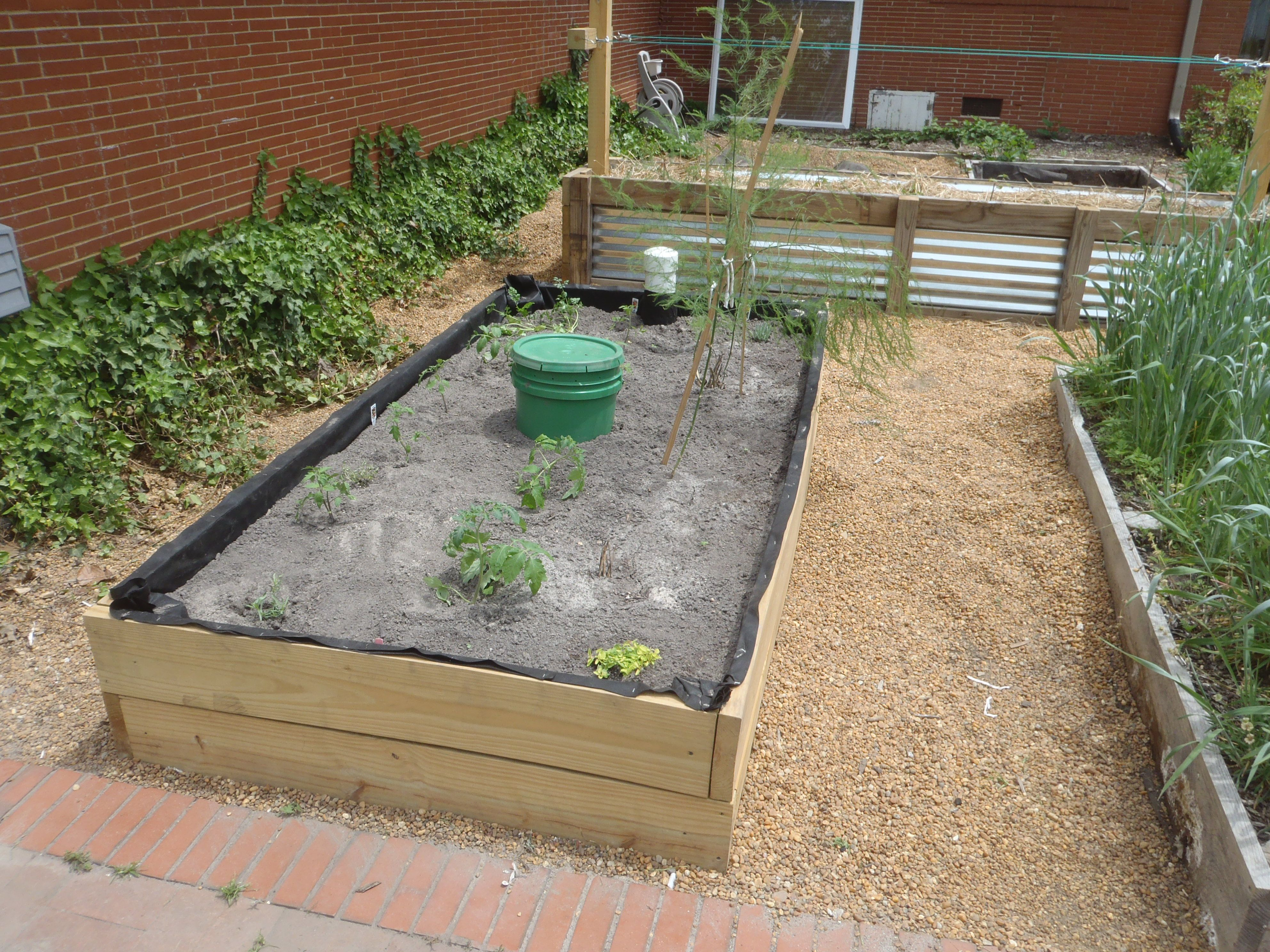 This is our 4'x8' wicking bed (our version of a large