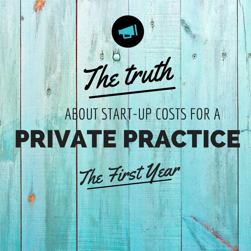 Costs for starting a counseling practice private
