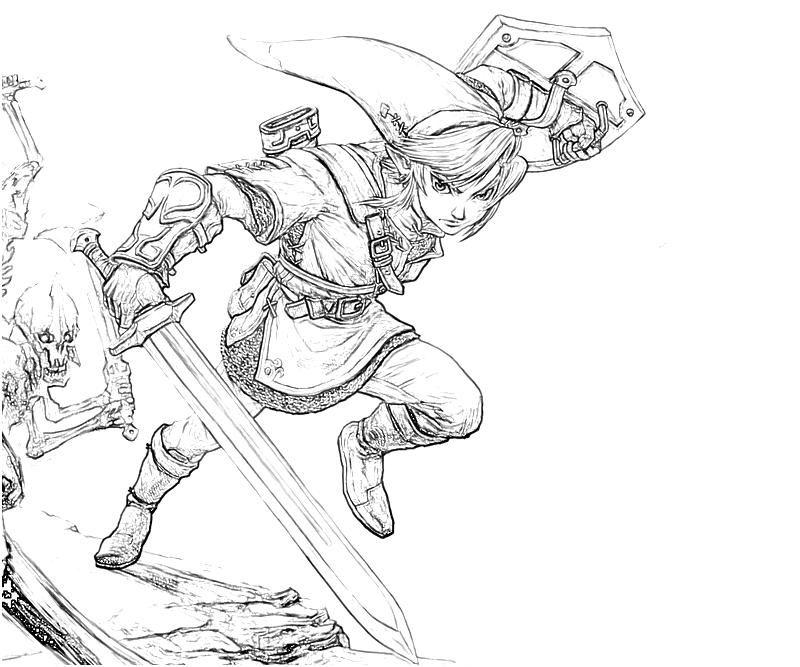 The Legend Of Zelda Link Skill Coloring Books Coloring Pages Legend Of Zelda