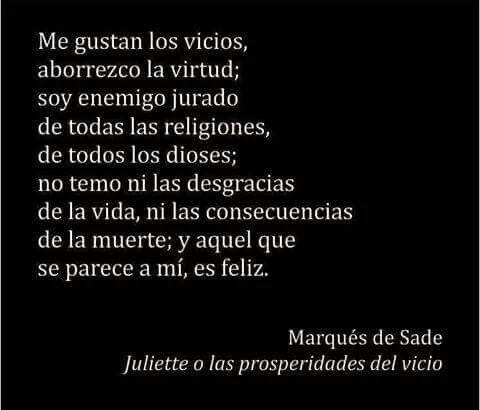 Marqués De Sade Marques De Sade Frases Marquez De Sade Y