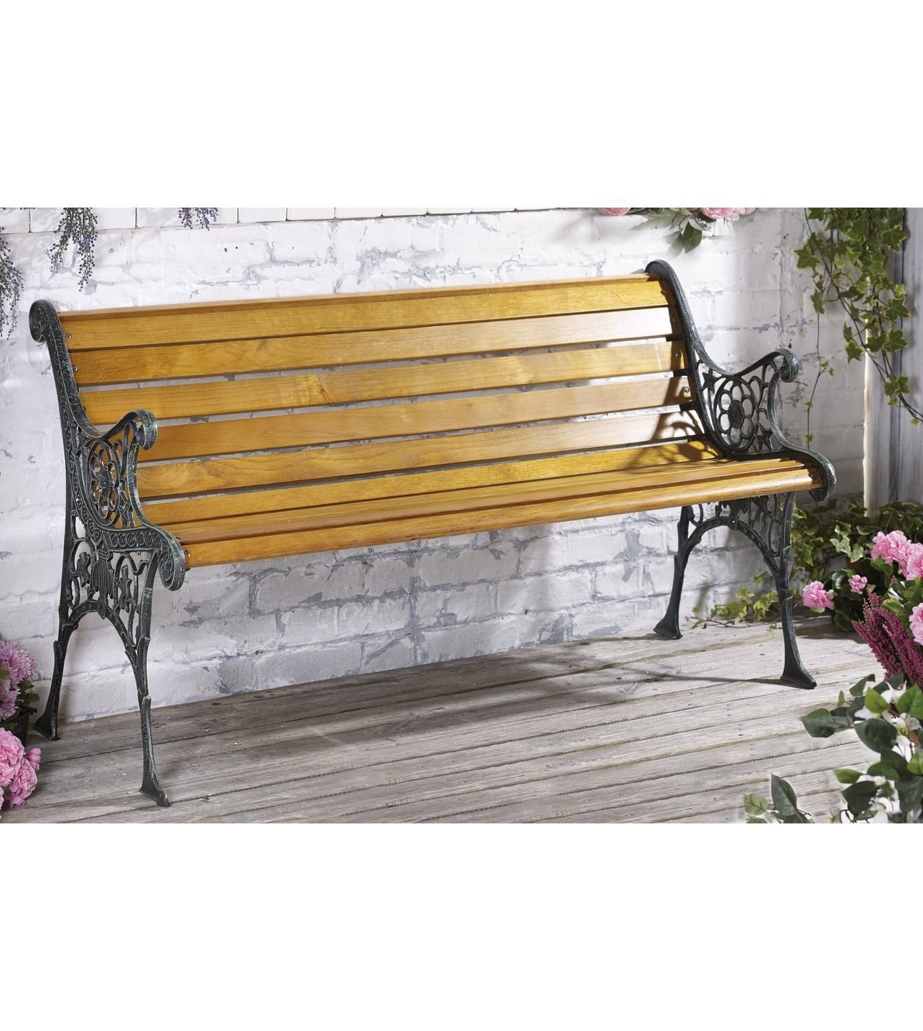 Image For Hartford Wooden Bench With Metal Sides From Studio
