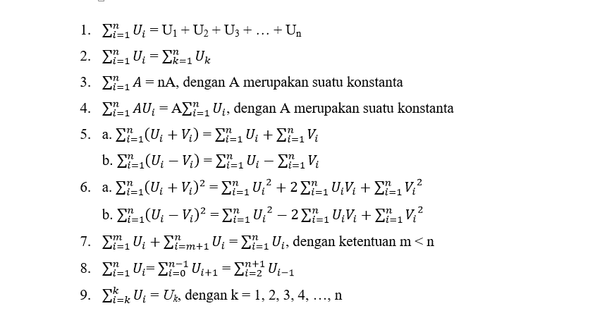 Memahami Konsep Dan Contoh Soal Notasi Sigma Statmat Id Kalkulus Matematika Belajar