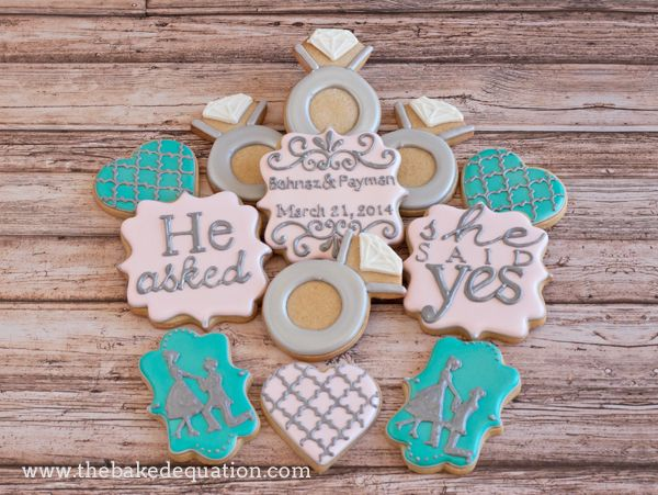 creating bridal shower cookies engagement party ideas