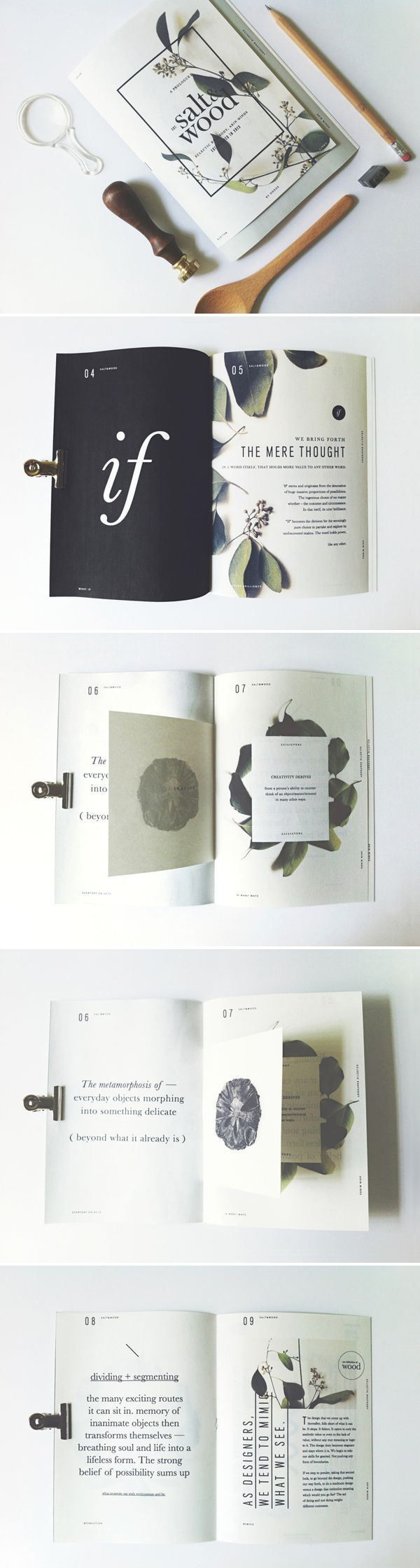 Typography 花草植物系列 刊物編排 | MyDesy 淘靈感 different from the other pin