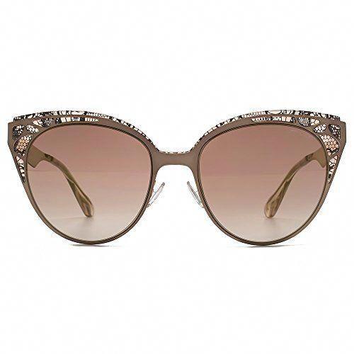 66537a69eca5 Jimmy Choo Estelle Lace Cateye Sunglasses in Brown Rose Gold ESTELLE/S ENZ  55 #