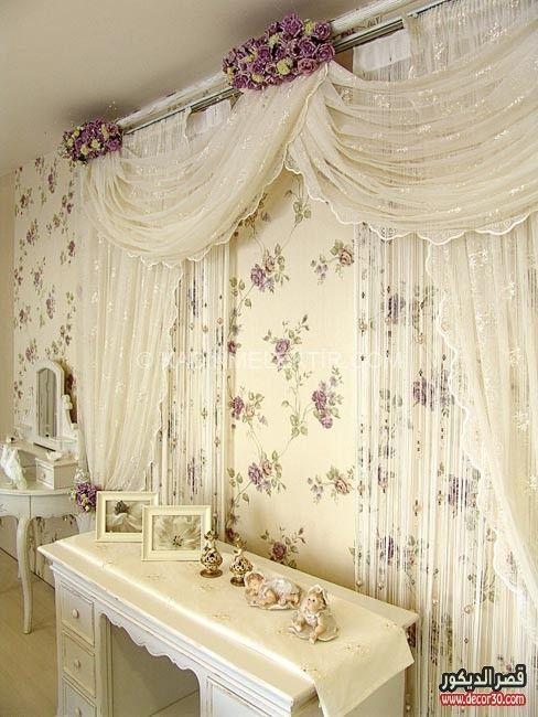 اشكال ستائر جديدة 2018 New Curtain Models قصر الديكور Curtains Holiday Room Chandelier Wedding Decor