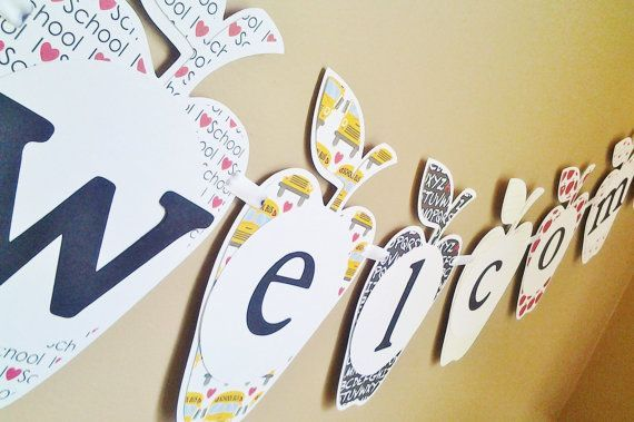 back to school banner handmade | classroom banner welcome