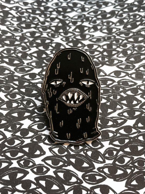 FLAWED Hood - enamel pin (4.50 USD) by Dripface