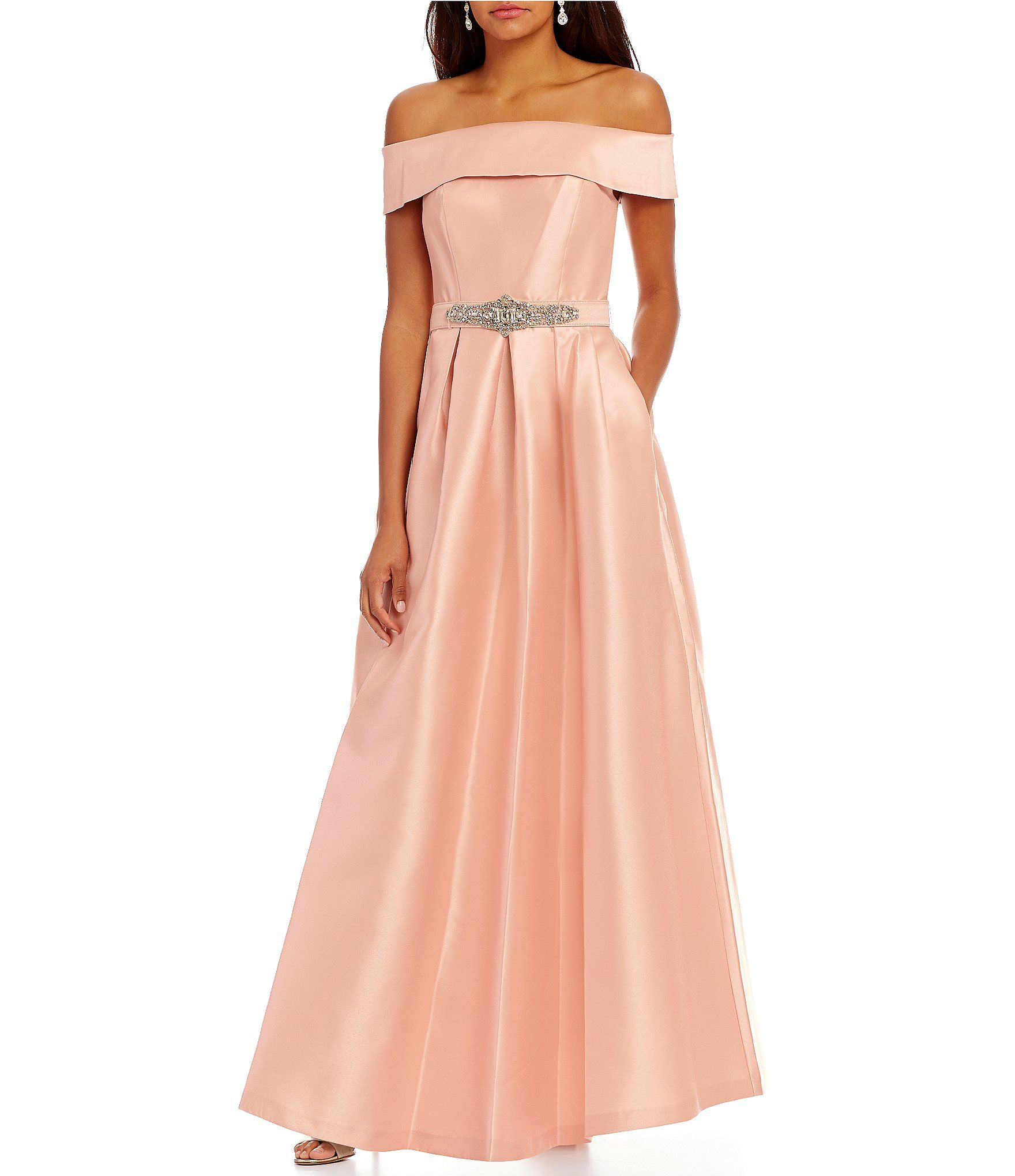 Eliza J Off-The-Shoulder Ball Gown | Ball gowns, Dillards and Gowns