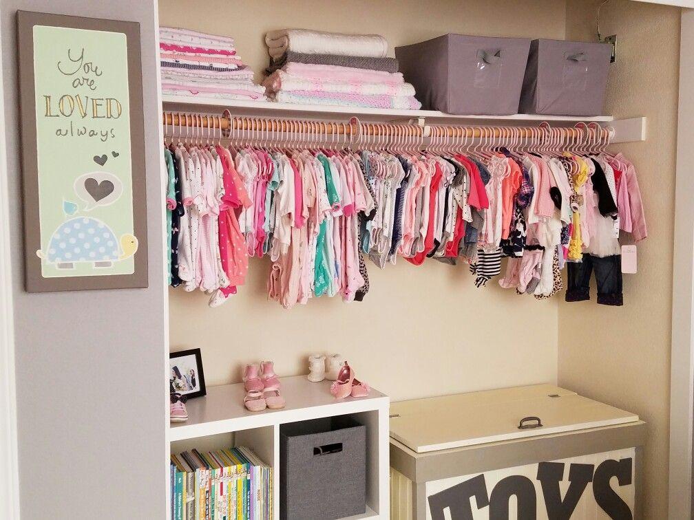 Pink and grey nursery baby girl nursery nursery closet
