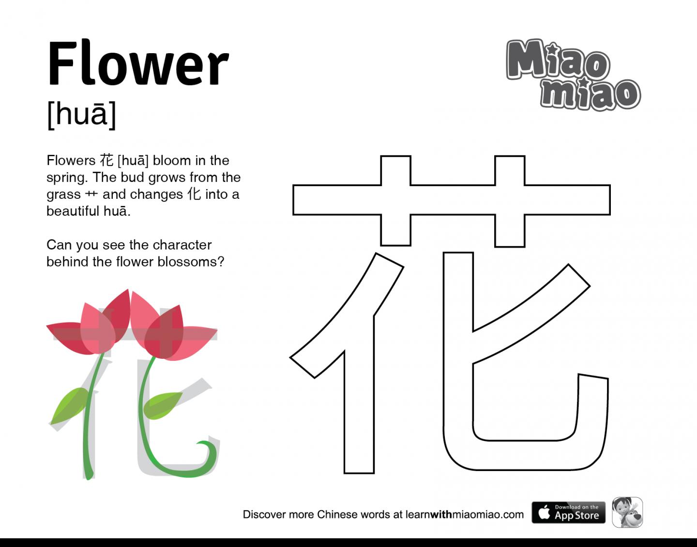 Learn Flower In Mandarin Educational Animation Games For Preschool Alphabet Worksheets Free Teaching Kids Chinese Words [ 1131 x 1440 Pixel ]