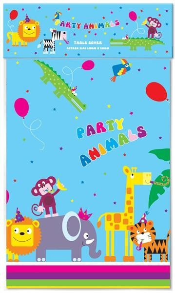 Jungle Animals Plastic Tablecover