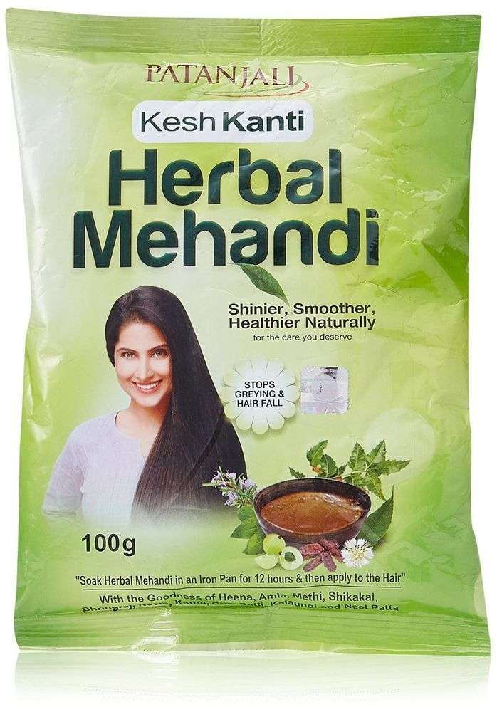 Herbal Mehandi Patanjali Herbal Mehandi Black 100 Gram Hair Color