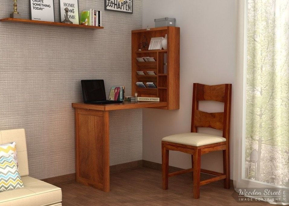Buy Holger Foldable Wall Mounted Table Honey Finish Online In