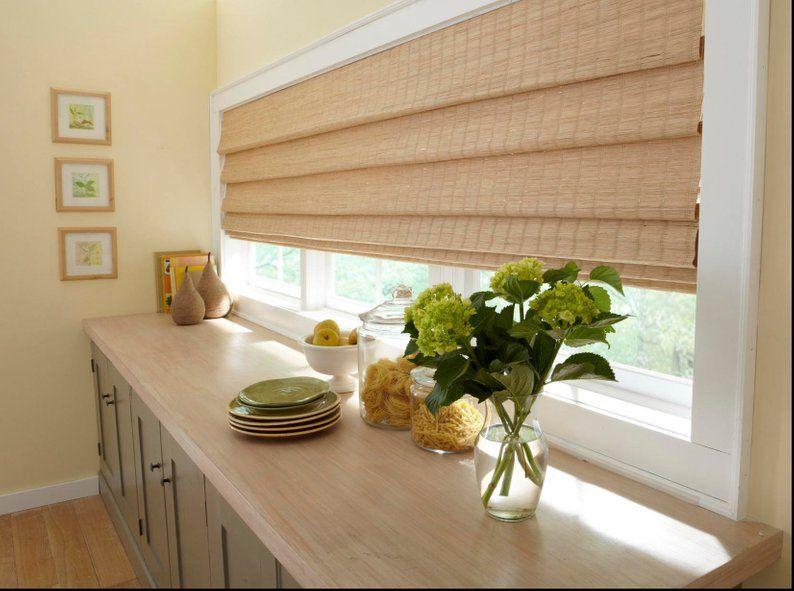 Extra Wide Window Shade Woven Shades Custom Woven Wood Shades Etsy Woven Wood Shades Woven Shades Bamboo Shades