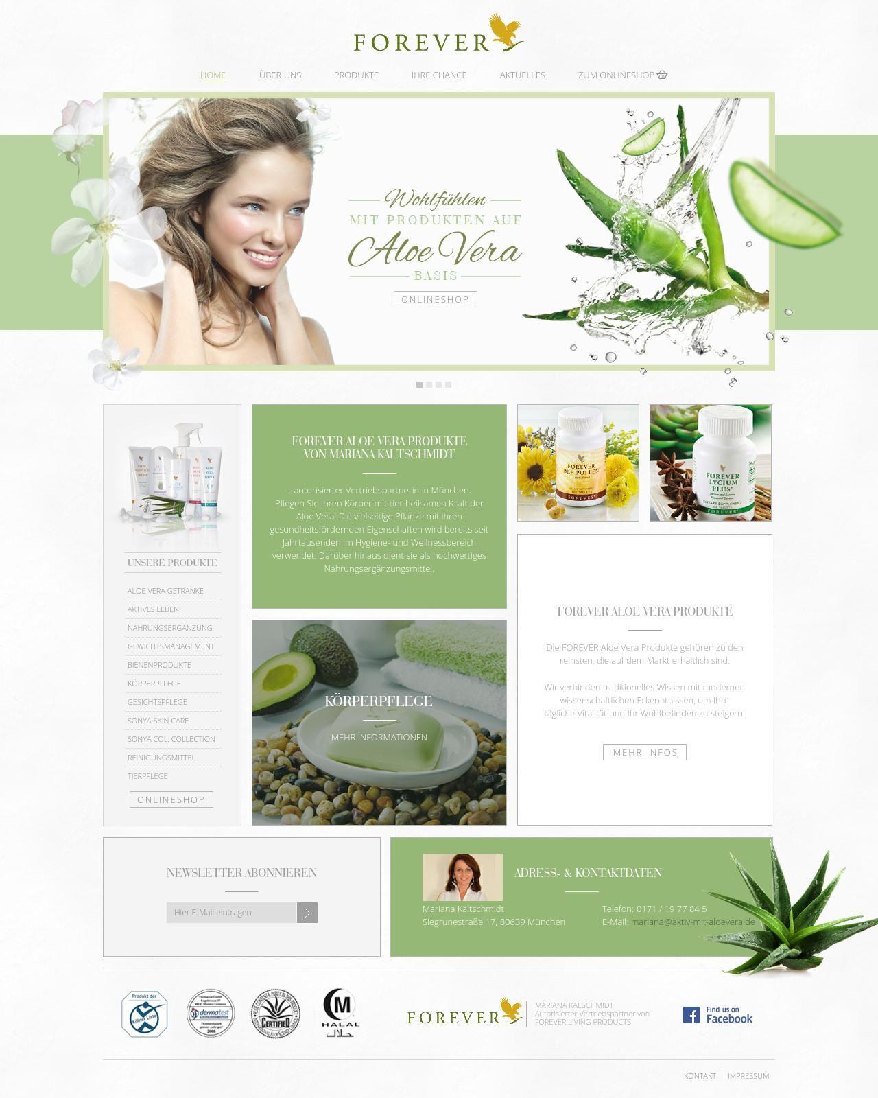 Forever - Health based website #website #webdesign#design #health #design #benchmark