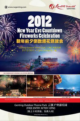 2012 New Year S Eve Countdown Fireworks Celebration Resorts World Genting New Year S Eve Countdown Fireworks