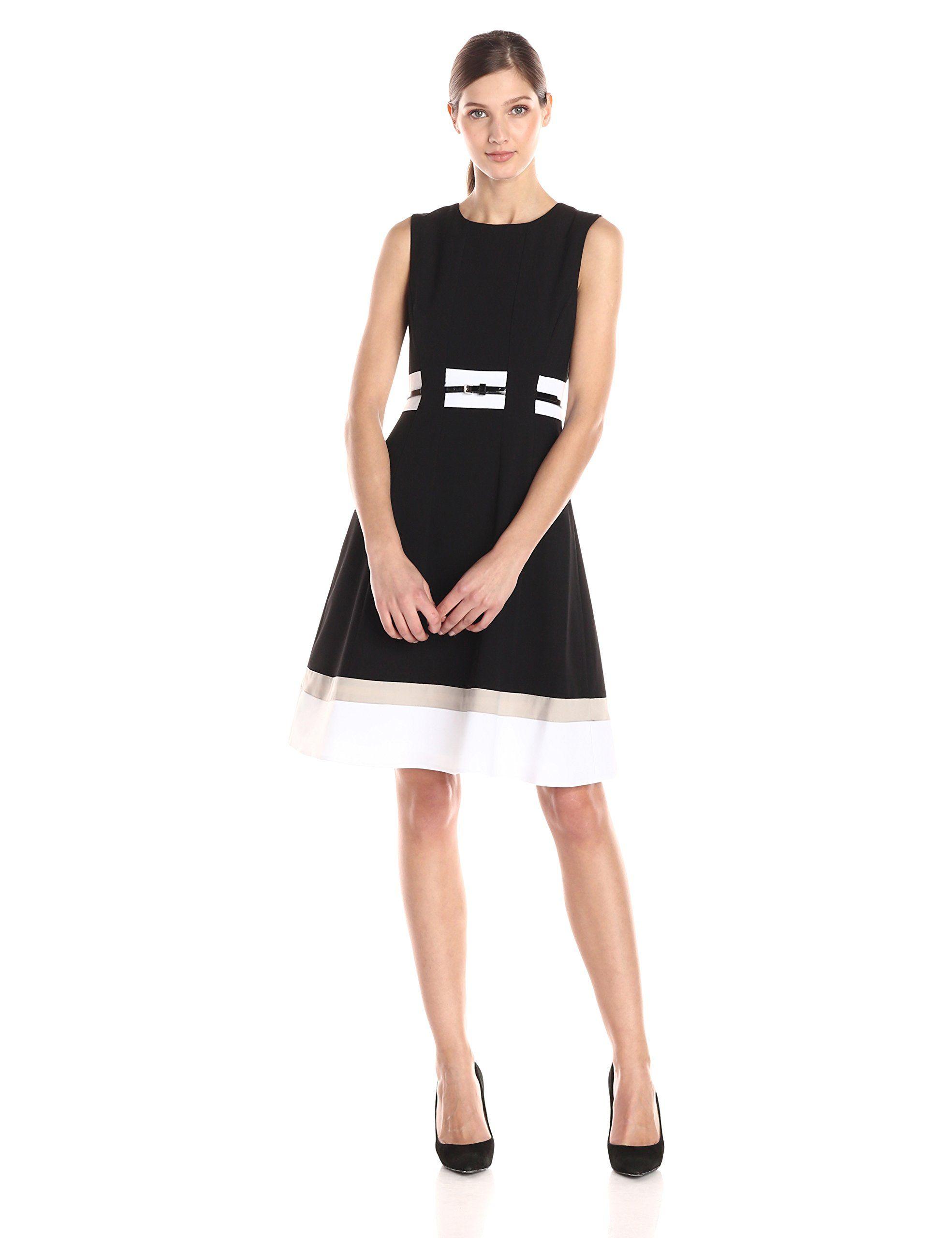 33++ Calvin klein belted colorblock dress ideas