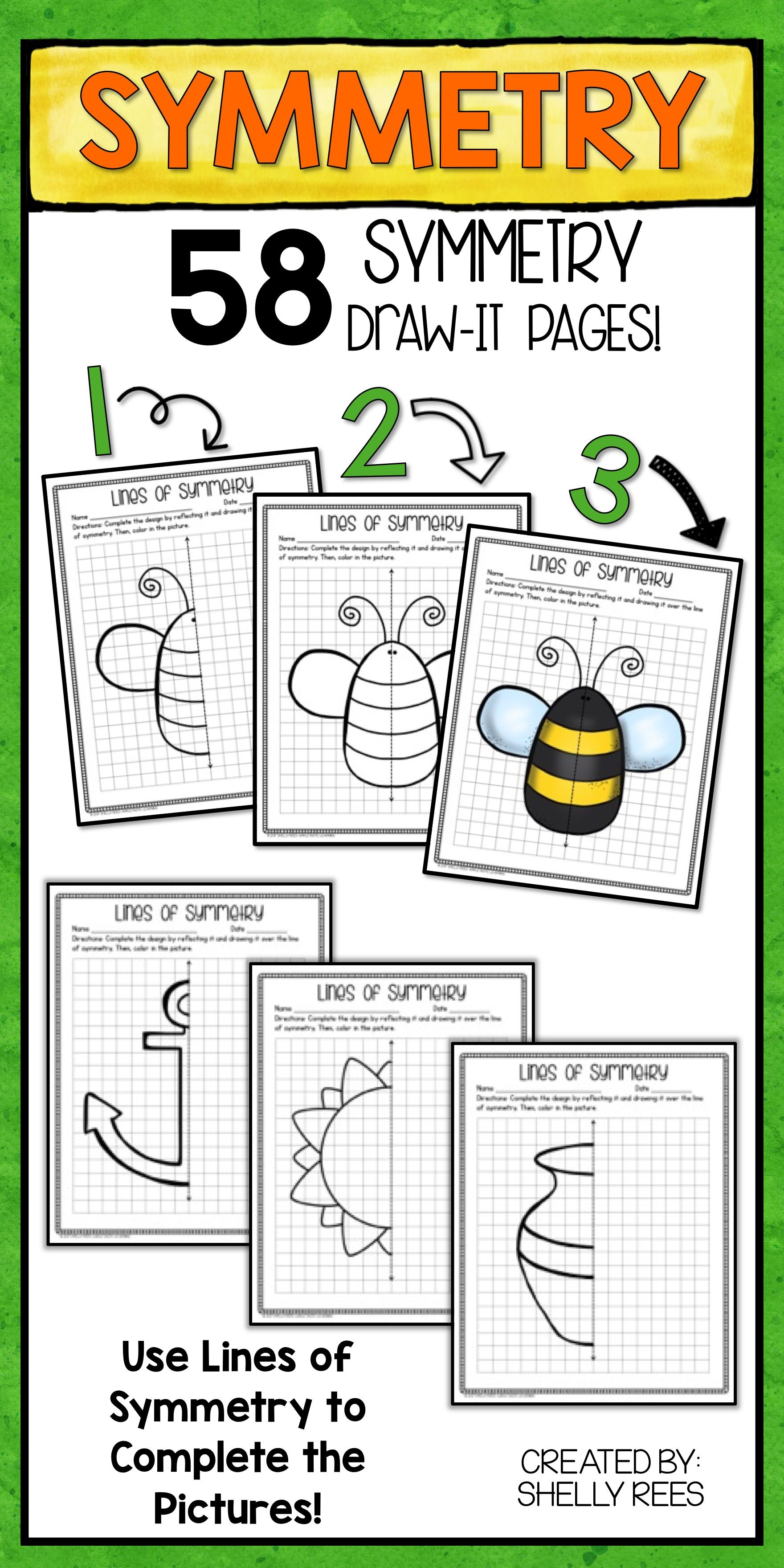 Lines of Symmetry Activities | Symmetry activities, Fun drawings and ...