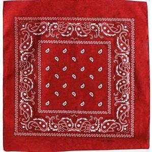 Bandana avec Motif Paisley rouge  Bandana 100% Cotton. Taille approx 55 x  55cm 80d52f814ea