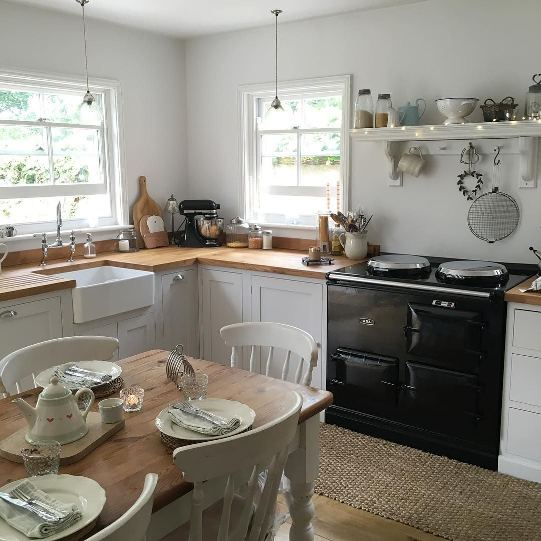 23 Best Cottage Kitchen Decorating Ideas And Designs For 2019: Table Set For Brunch This Morning With Mum & Dad