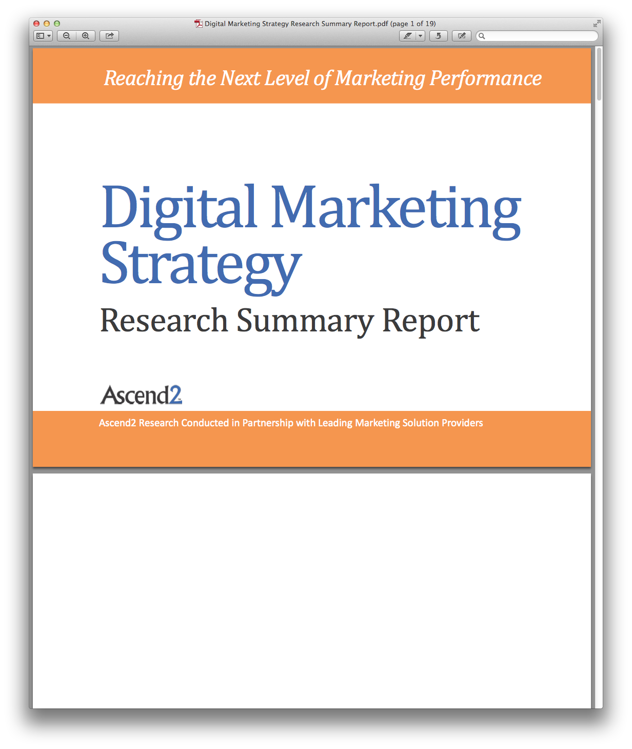 Digital Marketing Strategy Research Summary ReportPdfPng